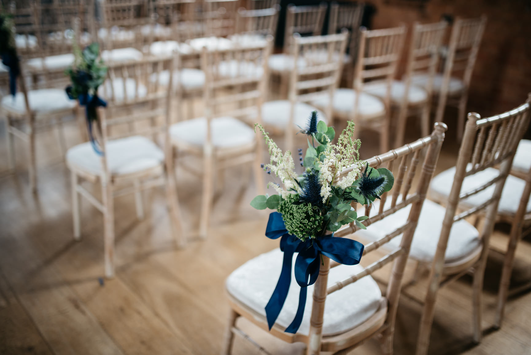 Wedding Chair Aisle Decorations with foliage