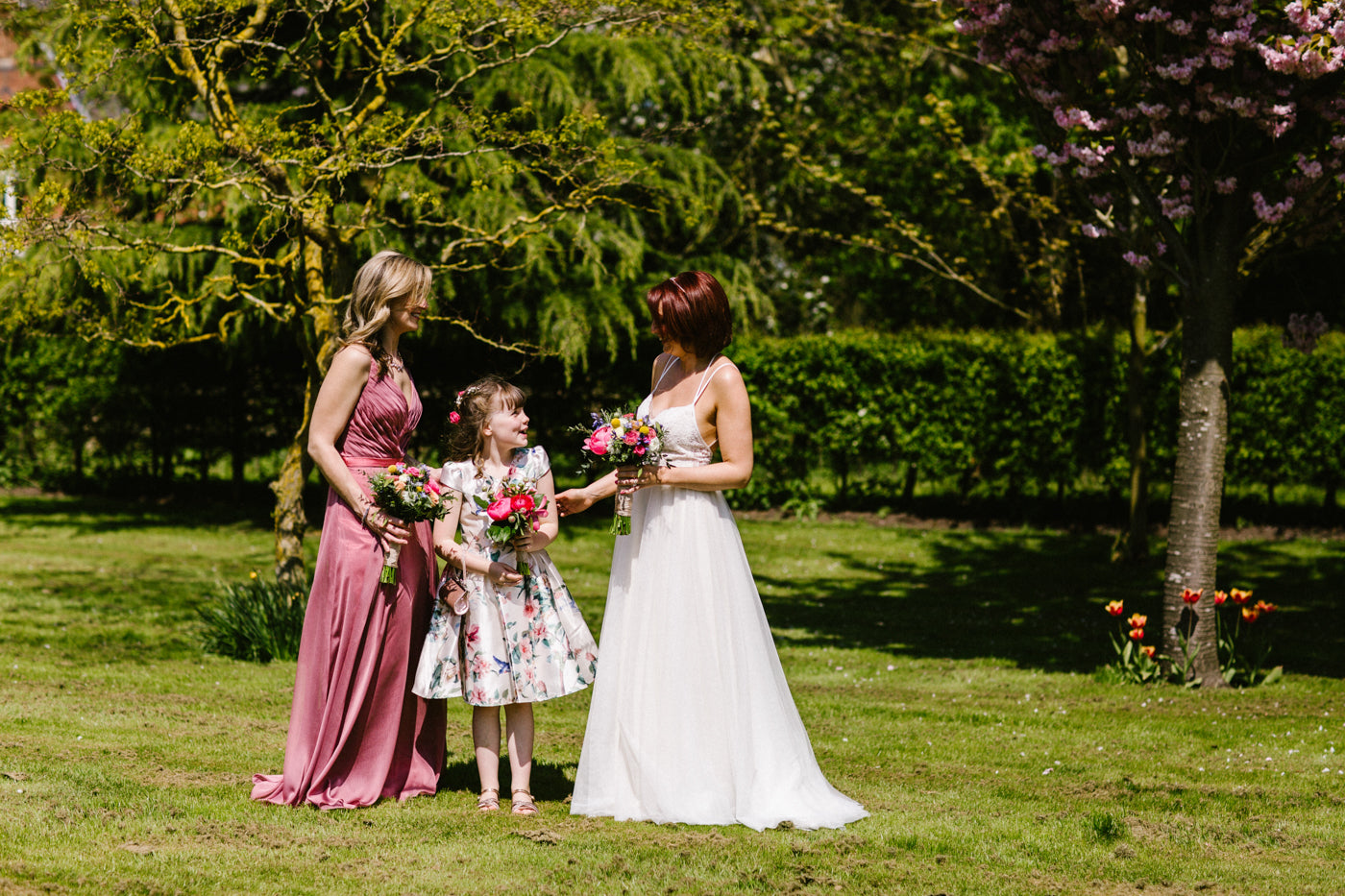 Bridal party flowers Nottinghamshire weddings