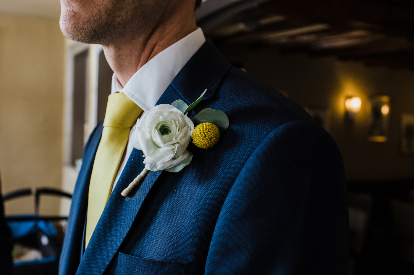 Grooms buttonhole Nottingham wedding