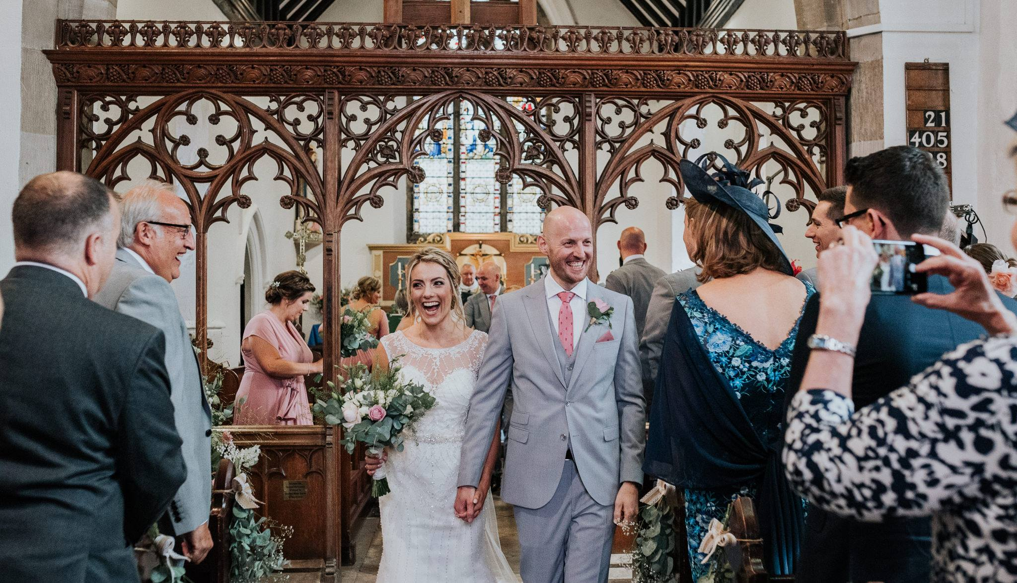 St Mary's Keyworth Wedding Flowers