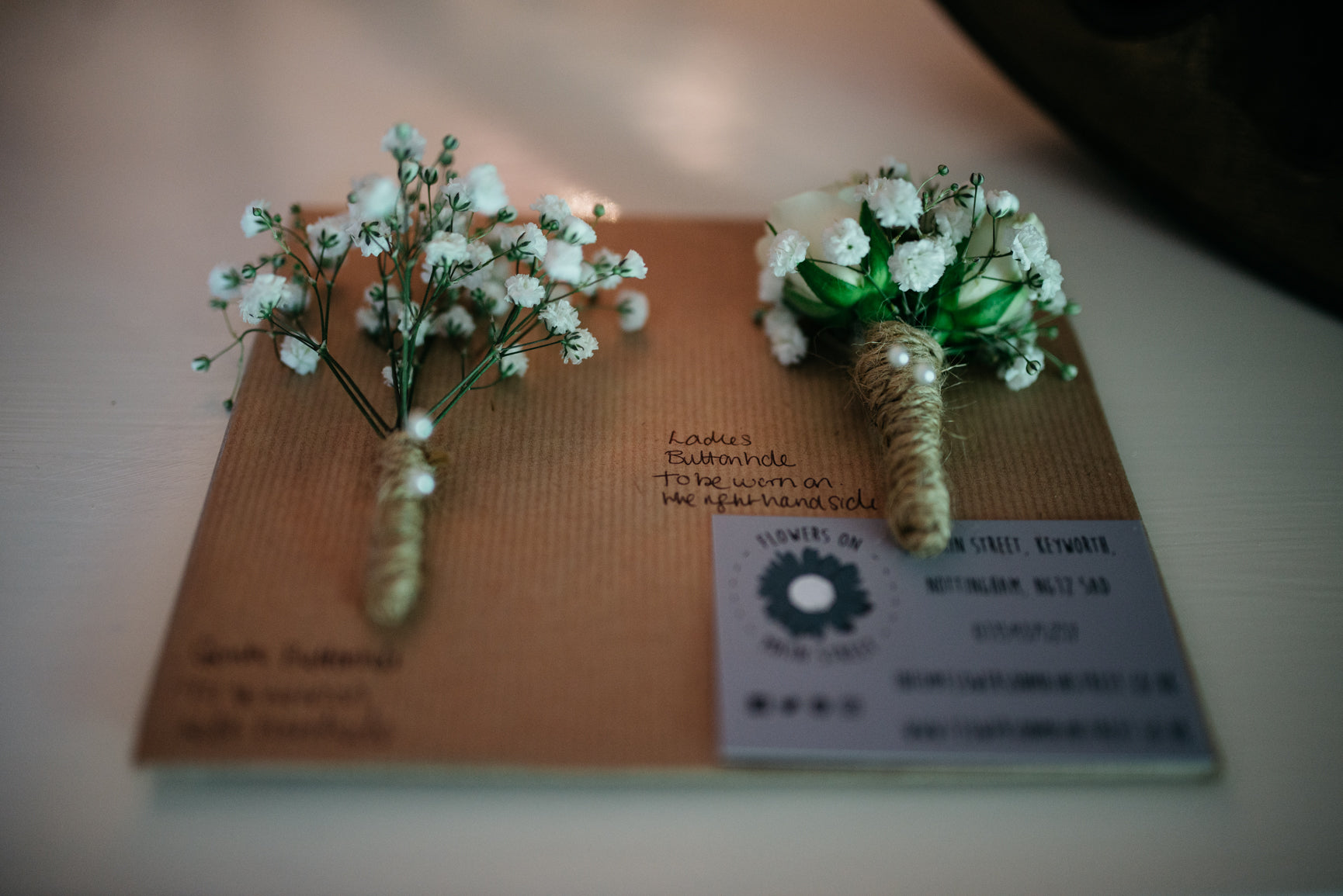 Wedding Buttonholes Carriage Hall Plumtree