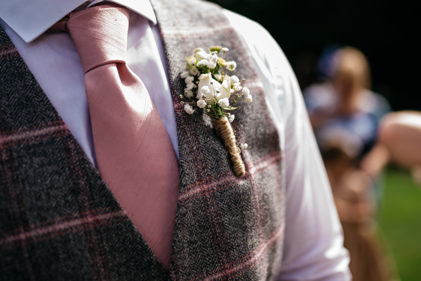 Groom's buttonholes Nottinghamshire