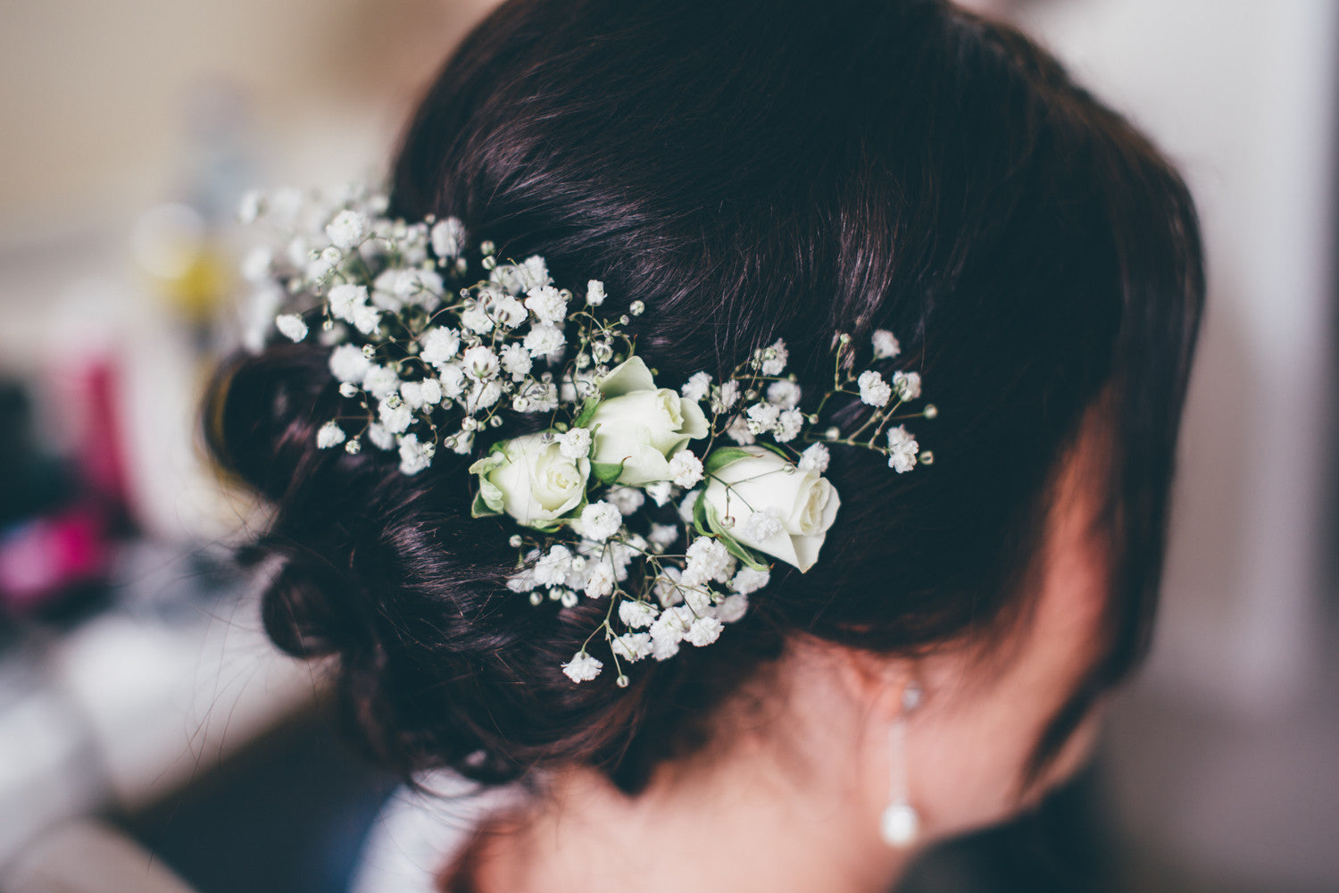 Gypsophila Wedding Hair decoration