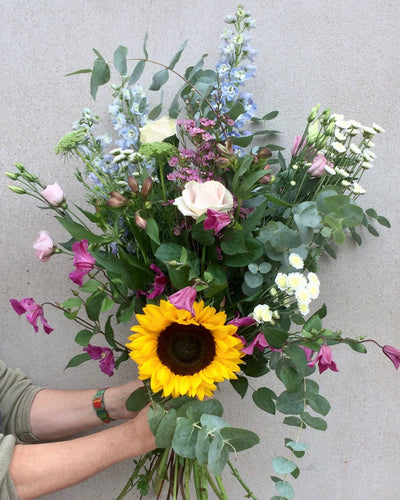 Eucalyptus and Sunflower Bouquet