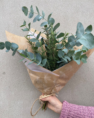 Eucalyptus and Rosemary Bouquet