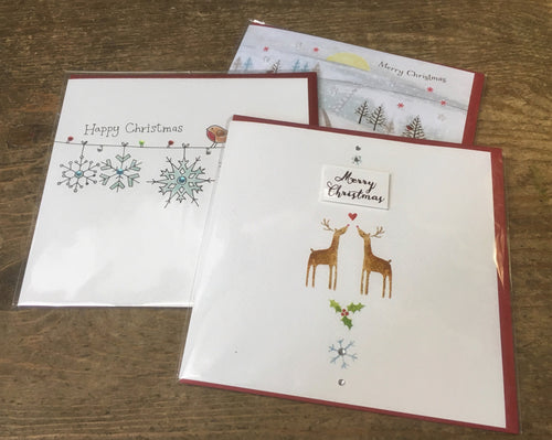 Christmas Greeting Cards with different seasons greetings