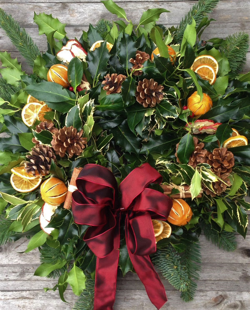 Traditional Christmas wreath Nottinghamshire