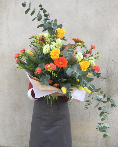 orange bouquet flower delivery nottinghamshire