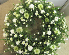 White natural style funeral wreath