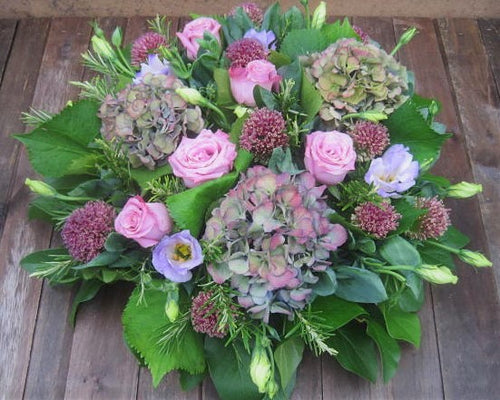 Natural Posy Pad Funeral Tribute Flowers