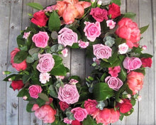Pink Rose style funeral wreath