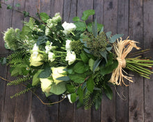 White Natural Sheath funeral flowers