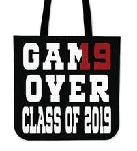 Load image into Gallery viewer, Game Over - Class of 2019 Tote Bag - Black