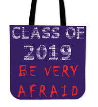 Load image into Gallery viewer, Graduation Tote Bags - Be Very Afraid - Purple