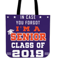 Load image into Gallery viewer, In Case You Forgot - Graduation Tote Bag - Purple