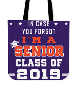 In Case You Forgot - Graduation Tote Bag - Purple