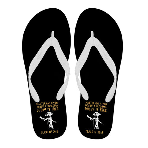 Dobby Is Free - Class of 2019 Flip Flops - Black