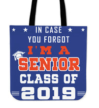 Load image into Gallery viewer, In Case You Forgot - Graduation Tote Bag - Blue