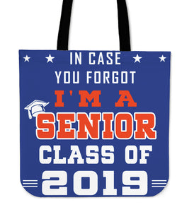 In Case You Forgot - Graduation Tote Bag - Blue
