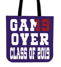 Load image into Gallery viewer, Game Over - Class of 2019 Tote Bag - Purple