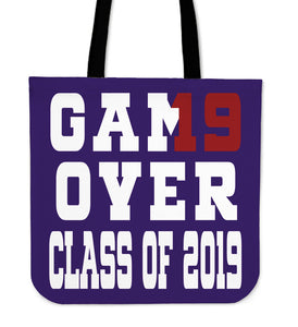 Game Over - Class of 2019 Tote Bag - Purple