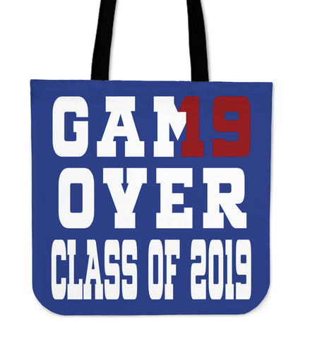 Game Over - Class of 2019 Tote Bag - Blue