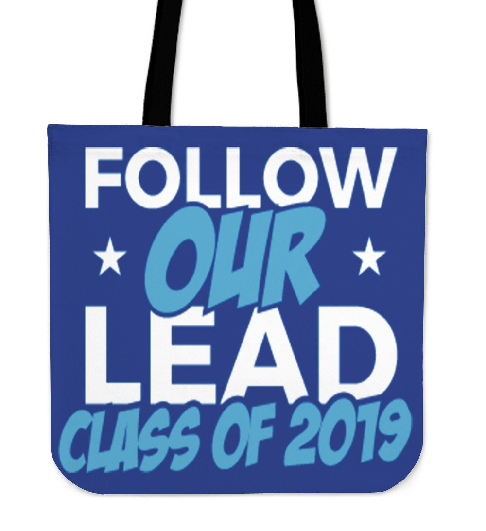 Class of 2019 Tote Bag - Follow Our Lead - Blue