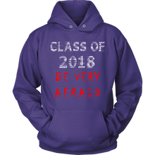 Load image into Gallery viewer, Be Very Afraid- Senior 2018 hoodie