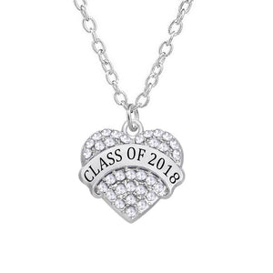Class of 2018 Heart Necklace - My Class Shop