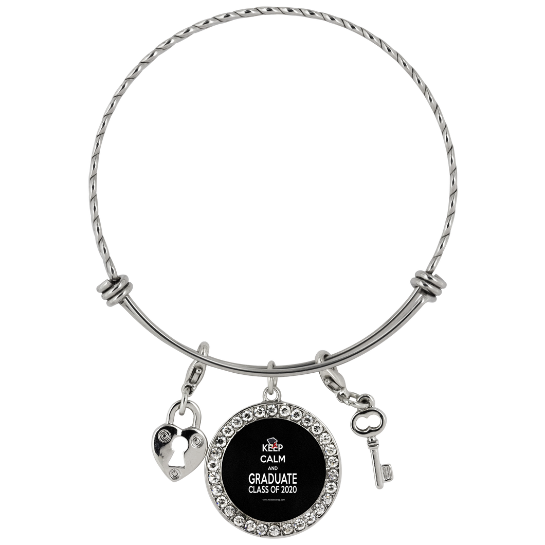 Keep Calm and Graduate - Graduation Charm Bracelets 2020