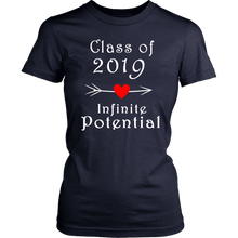Load image into Gallery viewer, Infinite Potential Shirt - Senior Class of 2019 Slogans - Navy