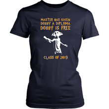 Load image into Gallery viewer, Dobby Is Free - Senior Class of 2019 Shirts - Navy
