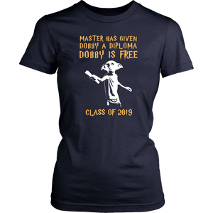 Dobby Is Free - Senior Class of 2019 Shirts - Navy