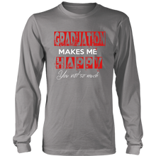 Load image into Gallery viewer, Graduation Makes Me Happy - Class of 2019 Graduation Shirts - Grey