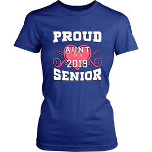 Proud Aunt Of A 2019 Senior - Beautiful Graduation Shirt For Family