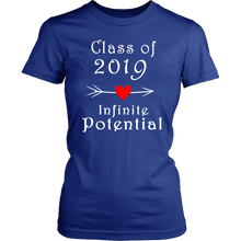 Load image into Gallery viewer, Infinite Potential Shirt - Senior Class of 2019 Slogans - Blue
