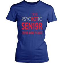 Load image into Gallery viewer, The Psychotic Senior - Funny Class of 2019 Shirts - Blue