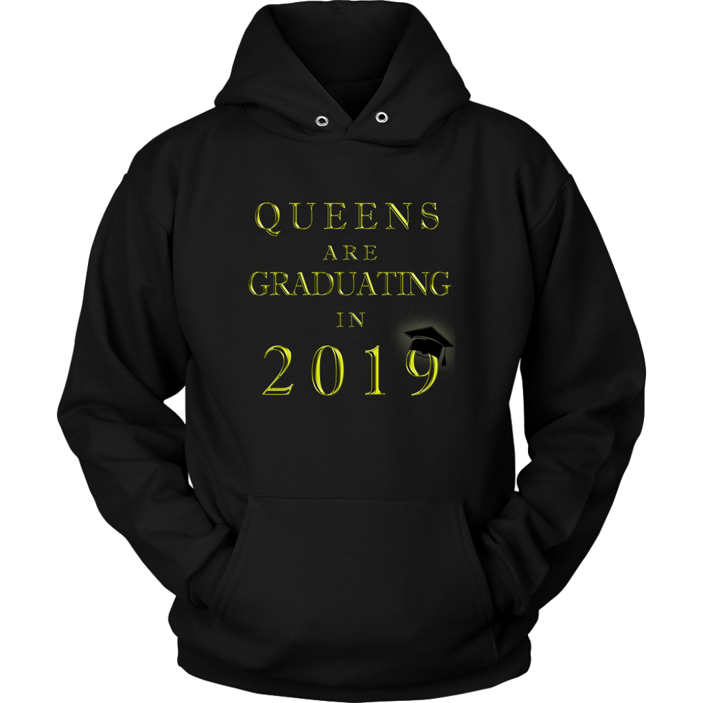 Queens Are Graduating In 2019 - Senior Class of 2019 Hoodie - Black