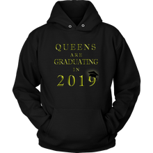 Load image into Gallery viewer, Queens Are Graduating In 2019 - Senior Class of 2019 Hoodie - Black