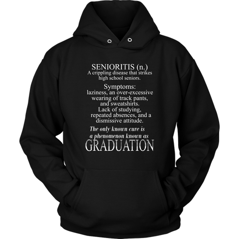 Senioritis - 2019 Senior Hoodies - Black