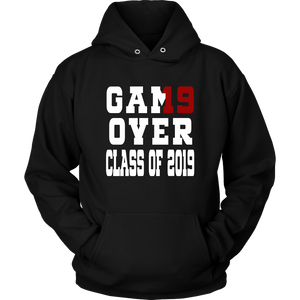 Game Over - Graduation Hoodies - Black