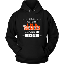 Load image into Gallery viewer, I'm A Senior - Senior 19 Hoodie - Black