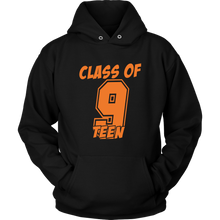 Load image into Gallery viewer, Class of 9-Teen - Class of 2019 Hoodie - Black