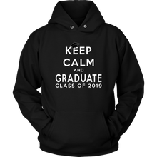 Load image into Gallery viewer, Keep Calm And Graduate - 2019 Senior Hoodies - Black