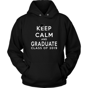 Keep Calm And Graduate - 2019 Senior Hoodies - Black