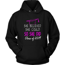 Load image into Gallery viewer, She Believed She Could - Class of 2019 Hoodie - Black