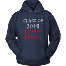 Load image into Gallery viewer, Class of 2019 hoodies with slogans navy
