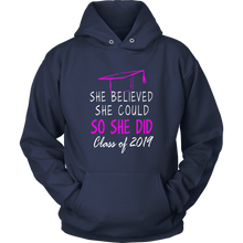 Load image into Gallery viewer, She Believed She Could - Class of 2019 Hoodie - Navy