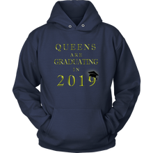 Load image into Gallery viewer, Queens Are Graduating In 2019 - Senior Class of 2019 Hoodie - Navy
