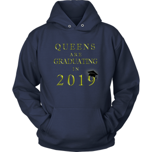 Queens Are Graduating In 2019 - Senior Class of 2019 Hoodie - Navy